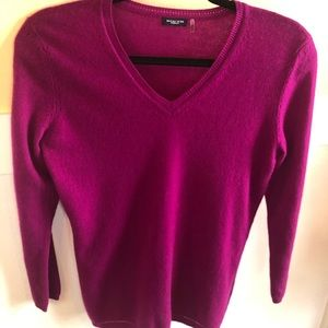 Magaschoni small cashmere sweater pullover pink